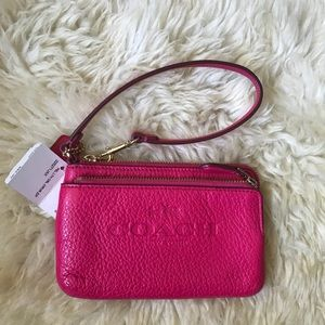 BNWT!! Coach Double Zip Wristlet